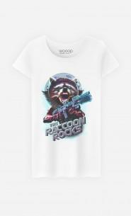 T-Shirt Femme Racoon Rocks