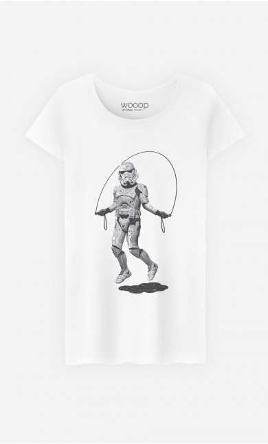 T-Shirt Femme Stormtrooper Skipping