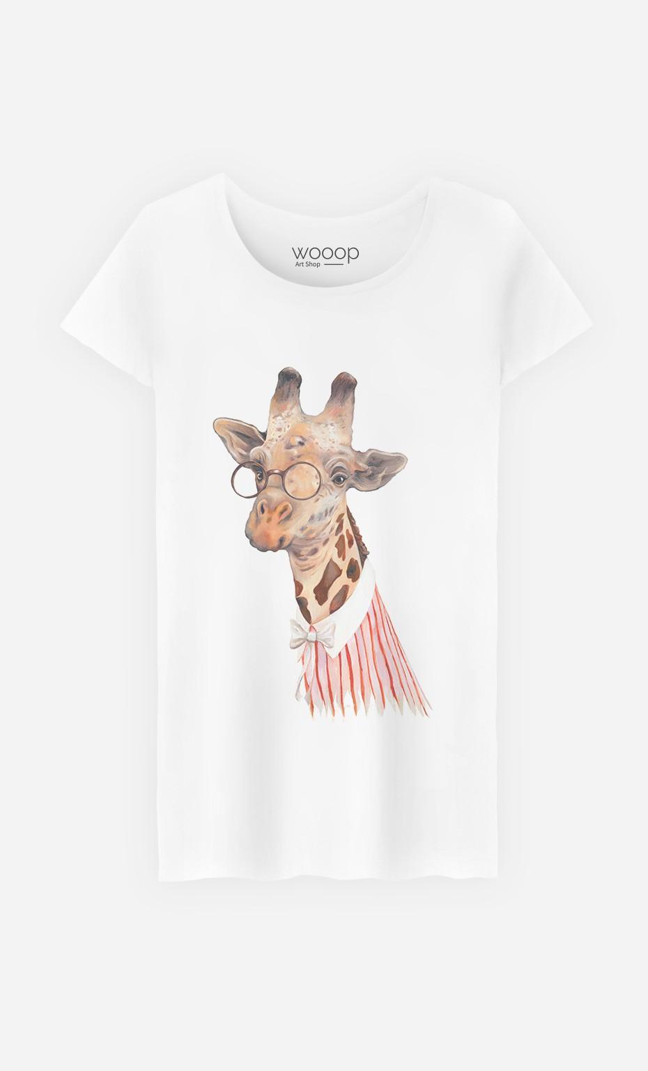 T-Shirt Femme Madame Giraffe