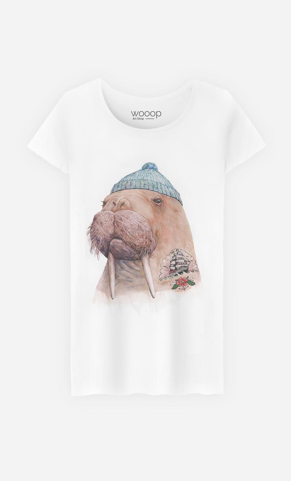 T-Shirt Femme Tattooed Walrus