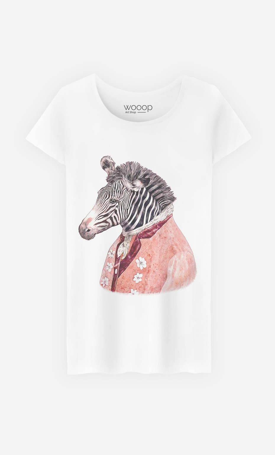 T-Shirt Femme Zebra Cream