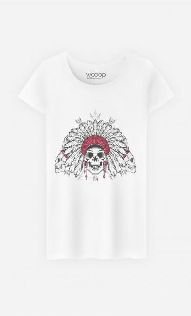 T-Shirt Femme Native Skull