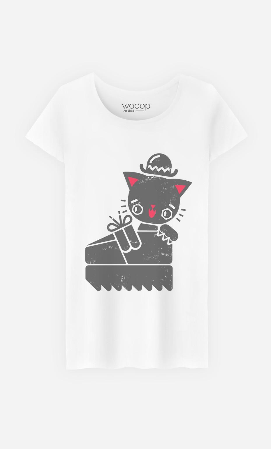 T-Shirt Femme Creeper Cat