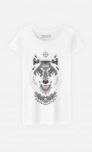 T-Shirt Femme Silver Wolf