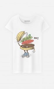 T-Shirt Femme Burger Greeting