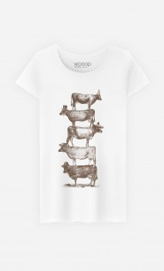 T-Shirt Femme Cow Cow Nuts