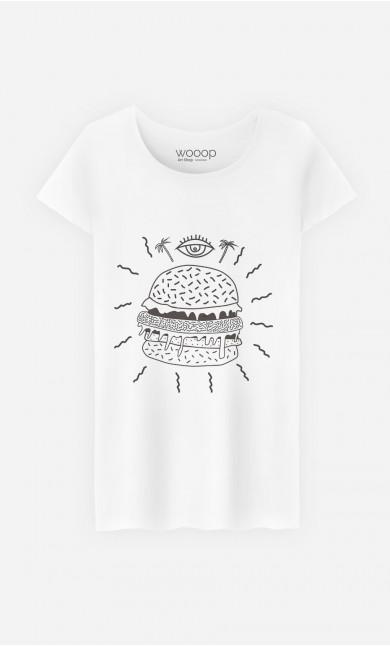 T-Shirt Femme Burger Punk