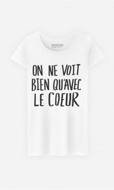 T-Shirt Femme Cute Avec Le Cœur