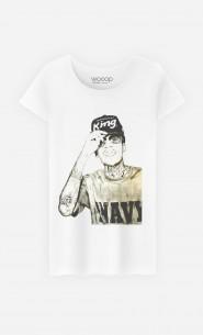 T-Shirt Femme Wiz Khalifa Navy