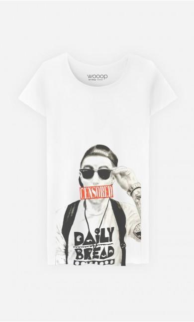 T-Shirt Femme Mac Miller Censored