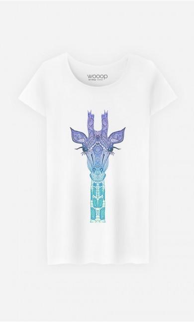 T-Shirt Femme Giraffe Mint