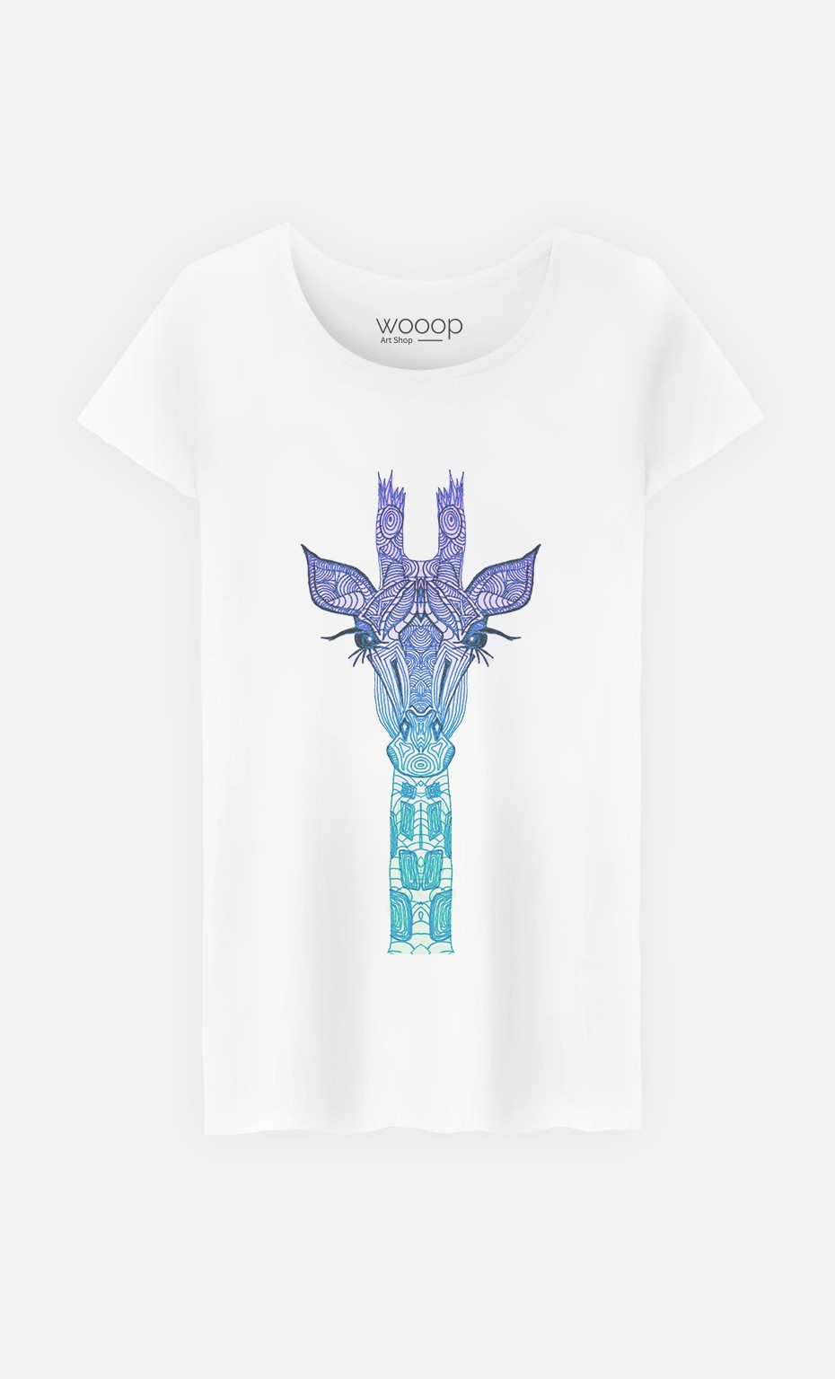 T-Shirt Giraffe Mint