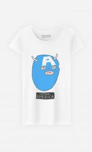 T-Shirt Femme Captain America
