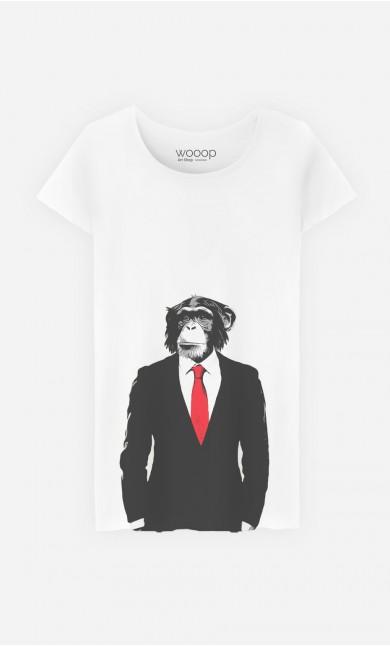 T-Shirt Femme Business Monkey