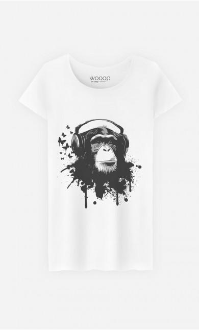 T-Shirt Femme Creative Monkey