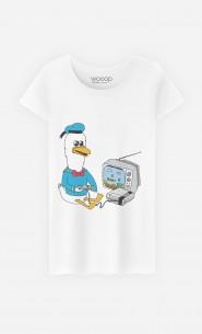 T-Shirt Femme Retro Donald