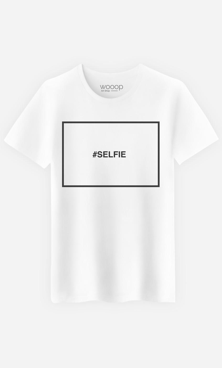 T-Shirt Homme Hashtag Selfie