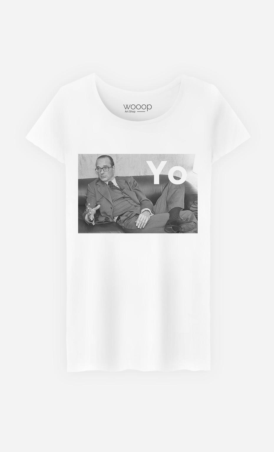 Yo Chirac Original Femme Shirt T RqAL345j