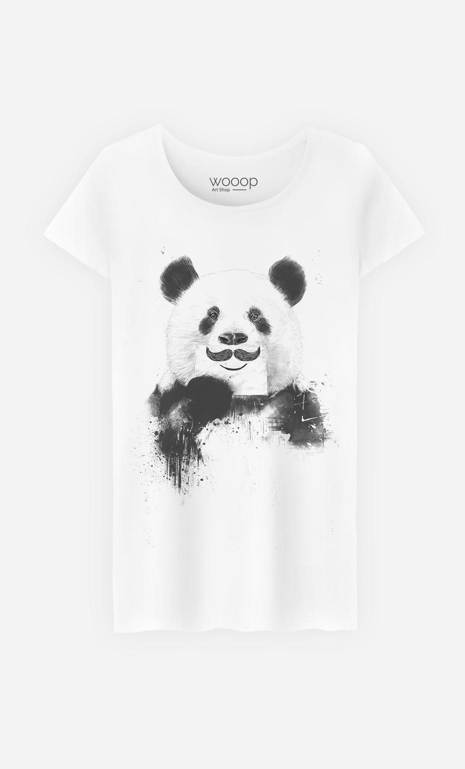 T-Shirt Femme Funny Panda