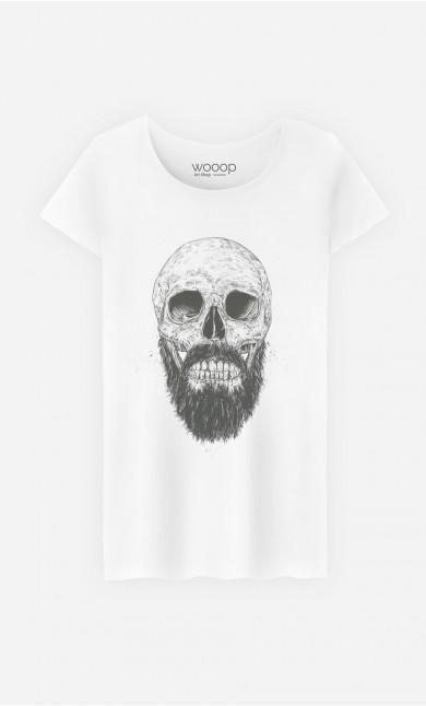 T-Shirt Femme Hipster Barbe