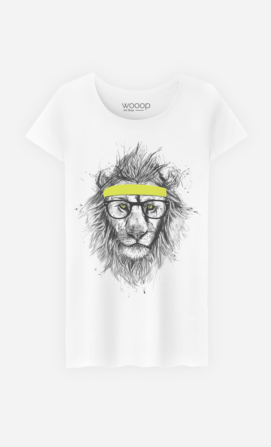 t shirt femme hipster lion original et tendance wooop. Black Bedroom Furniture Sets. Home Design Ideas