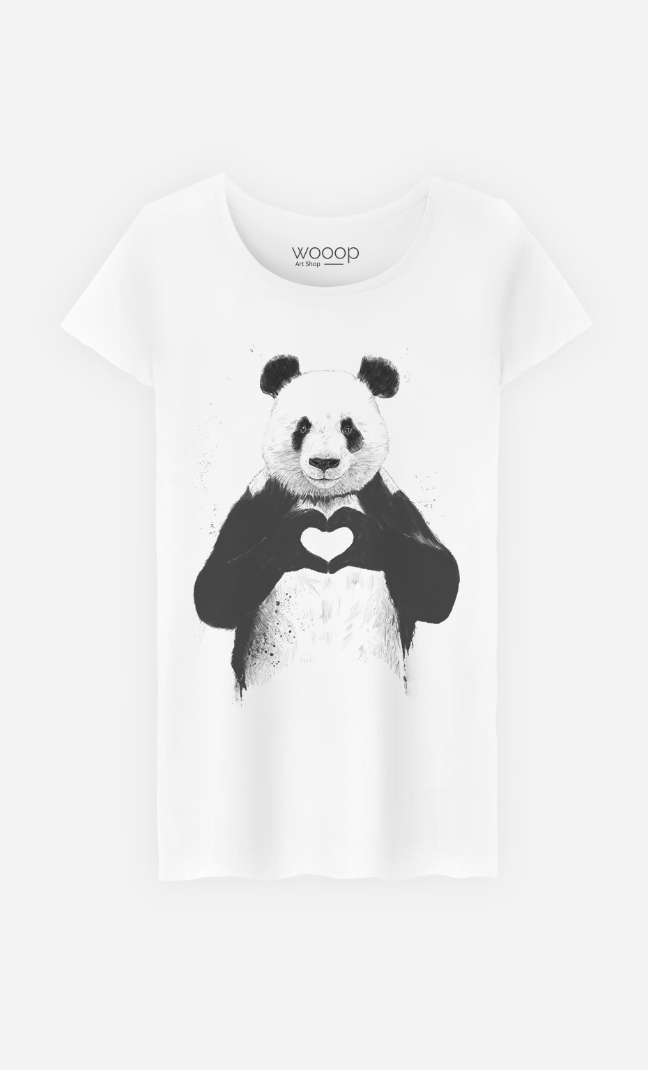 t shirt femme love panda original et tendance wooop. Black Bedroom Furniture Sets. Home Design Ideas