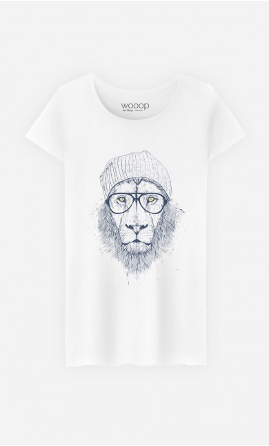 T-Shirt Femme Original Cool Lion
