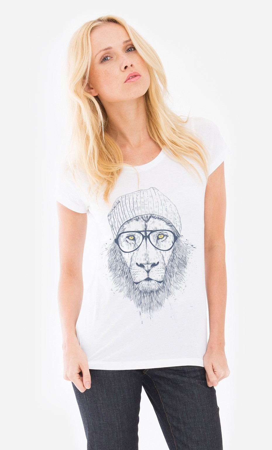 t shirt femme original cool lion original et tendance wooop. Black Bedroom Furniture Sets. Home Design Ideas