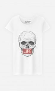 T-Shirt Femme Skull Life