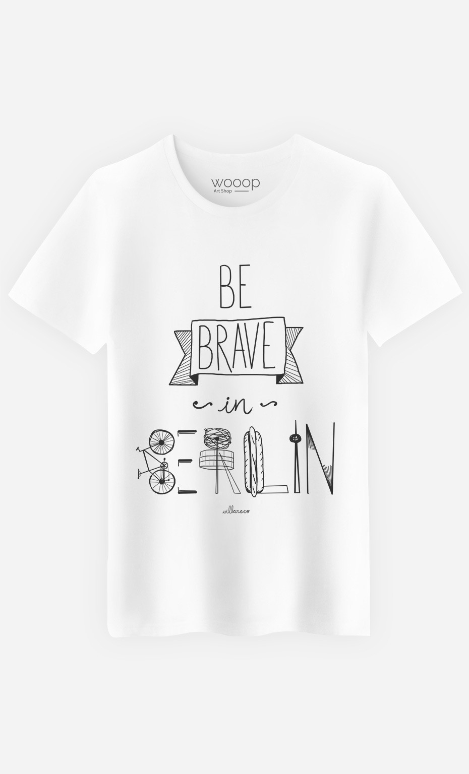 T-Shirt Homme Be Brave In Berlin