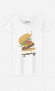 T-Shirt Femme Burger Wipeout