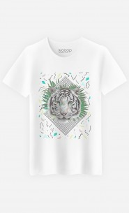 T-Shirt Homme White Tiger