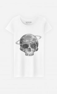 T-Shirt Femme Cosmic Skull Black