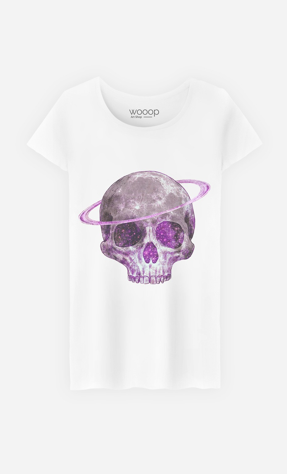 T-Shirt Cosmic Skull Purple