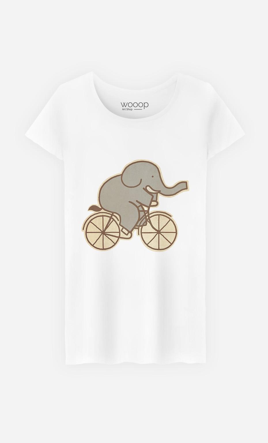 T-Shirt Femme Elephant Cycle