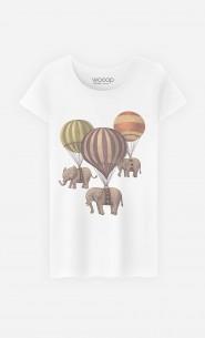 T-Shirt Femme Flight of Elephants
