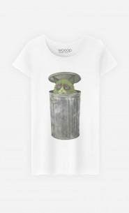 T-Shirt Femme Grouchy Cat