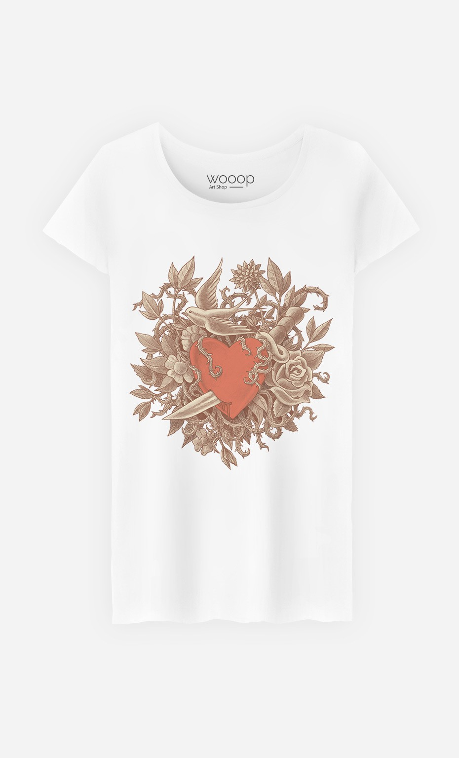 T-Shirt Femme Heart Of Thorns