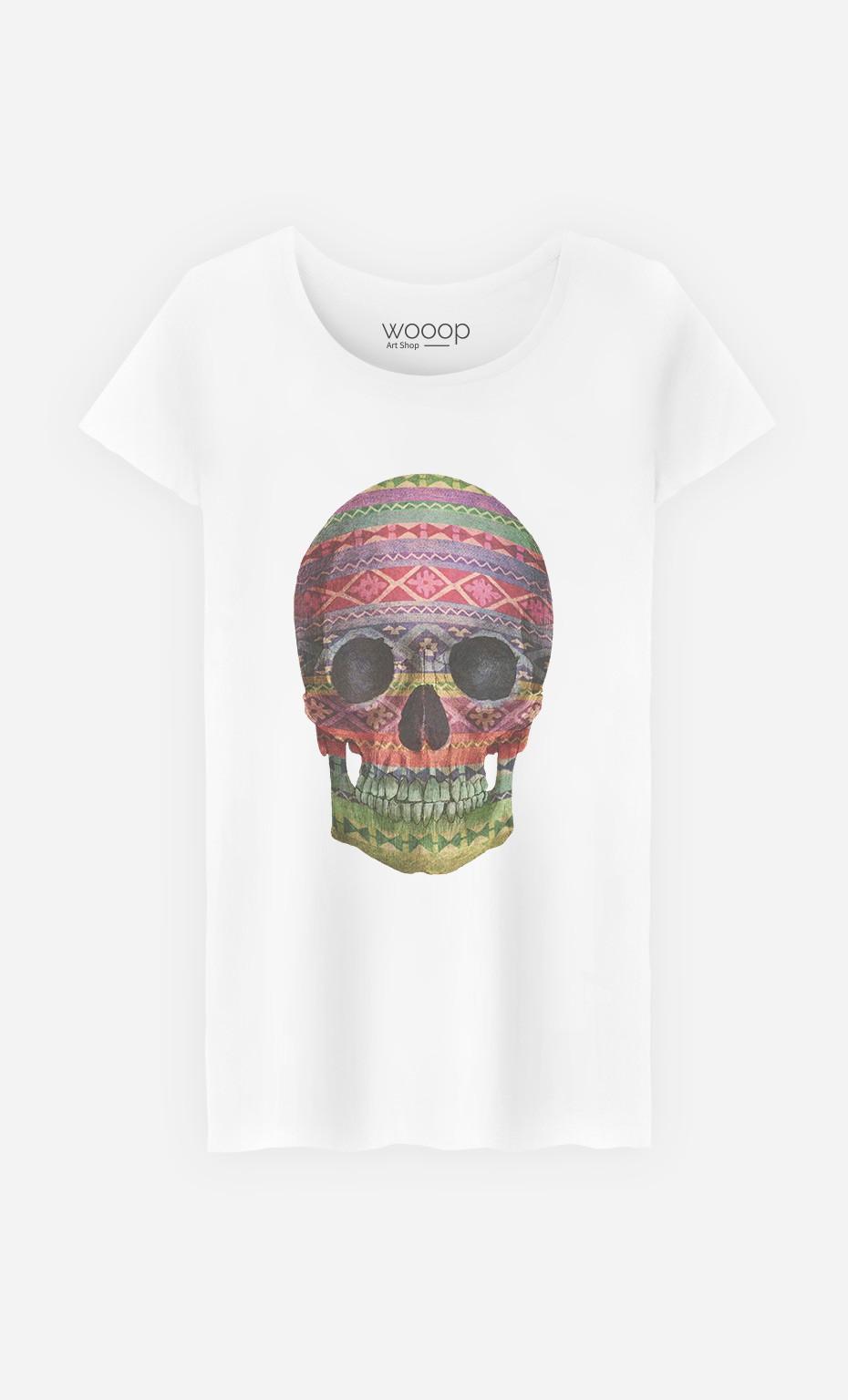T-Shirt Femme Navajo Skull