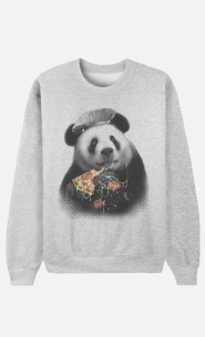 Sweat Homme Panda Pizza