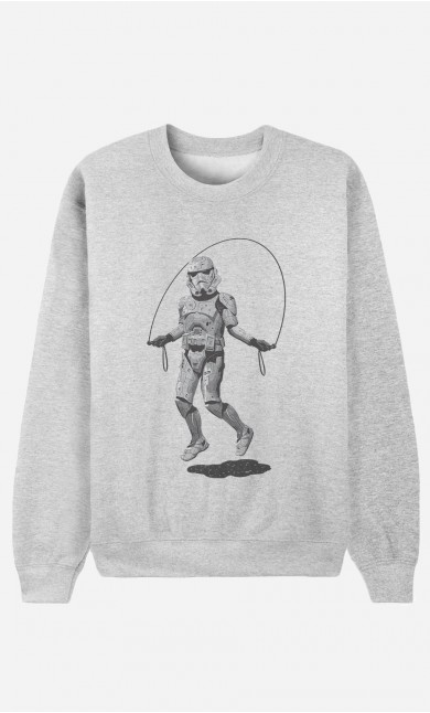 Sweat Homme Stormtrooper Skipping