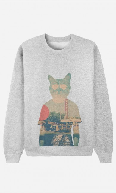 Sweat Homme Cool Cat