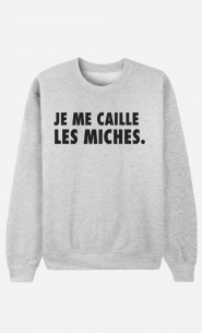 Sweat Homme Je Me Caille Les Miches