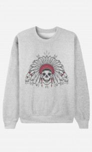 Sweat Homme Native Skull