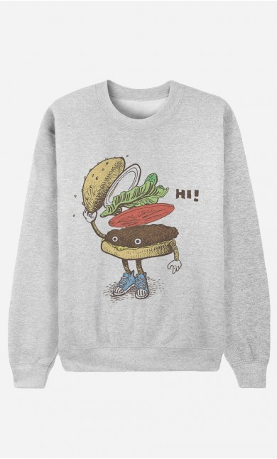 Sweat Homme Burger Greeting