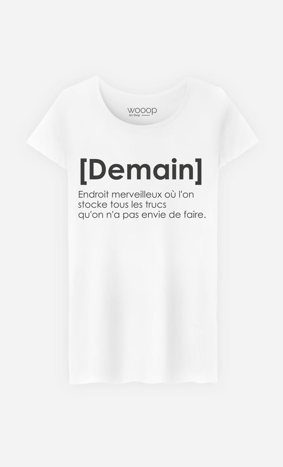 T-Shirt Femme Demain Définition original