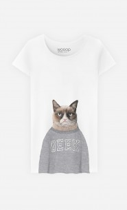 T-Shirt Femme Grumpy Cat