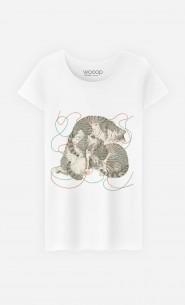 T-Shirt Femme Sleeping Cats