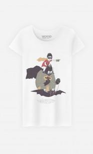 T-Shirt Femme Batman & Robin