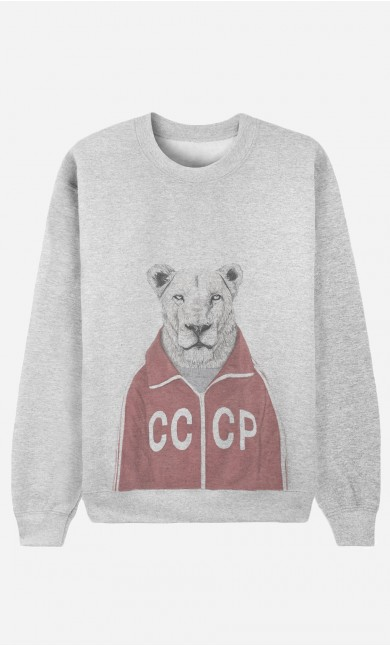 Sweat Homme Soviet Lion